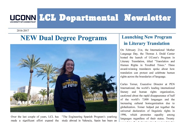 2016-2017 LCL Department Newsletter