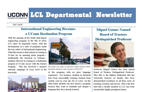 2017-2018LCL Department Newsletter