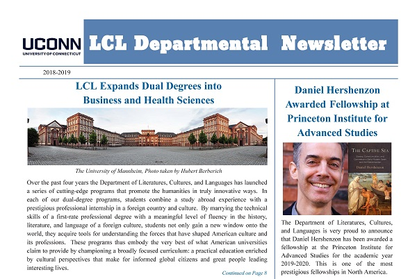 2018-2019 LCL Department Newsletter